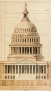 Elevation of dome of U.S. Capitol, 1859