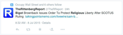 """""""Bigot Brownback Issues Order to Protect Religious Liberty After SCOTUS Ruling"""""""