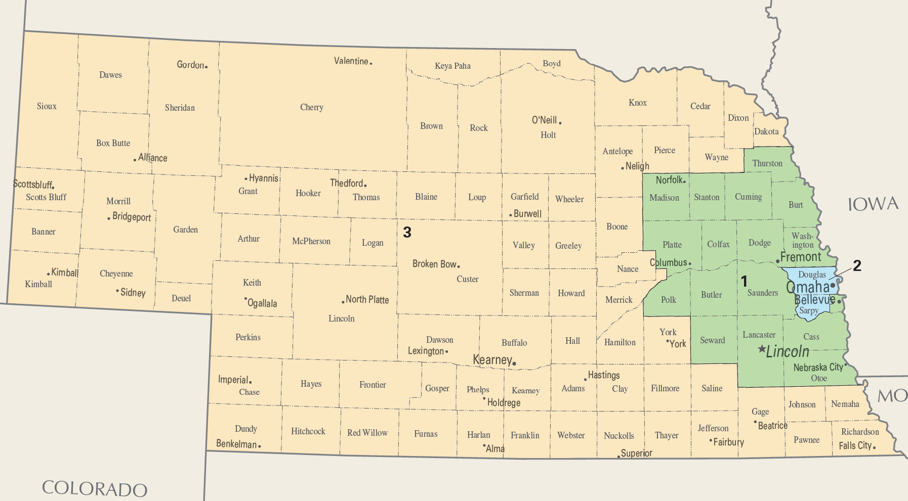 Nebraskas congressional districts
