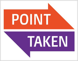 Point Taken logo, copyright by owner.