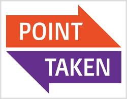 Point Taken logo, copyright by owner.